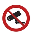 prohibited sign road camera surveillance security vector image