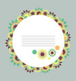 round abstract floral frame vector image