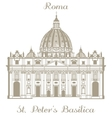 St Peters Basilica vector image