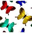butterflies seamless pattern vector image vector image
