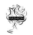 Abstract logo fashion patterns vector image vector image