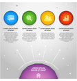 colorful info graphic elemen vector image