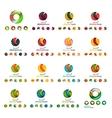 Set of modern circle globe or sphere logo concept vector image