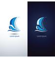 sailboat 4 vector image