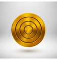 Gold Technology Circle Metal Badge vector image vector image