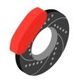 Car wheel repair isometric 3d icon vector image