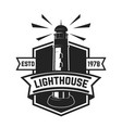 emblem template with lighthouse isolated on white vector image