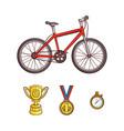 flat sketch sport symbols icon set vector image