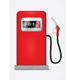 Gas station pump with fuel nozzle vector image