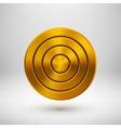 Gold Technology Circle Metal Badge vector image