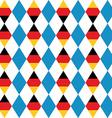 Oktoberfest seamless pattern of blue rhombus vector image
