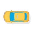 taxi car top view flat style icon vector image