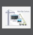 website under construction icon vector image