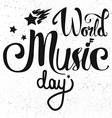 World Music Day vector image