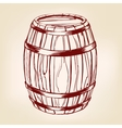barrel wooden wine or beer hand drawn vector image