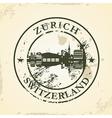 Grunge rubber stamp with Zurich Switzerland vector image
