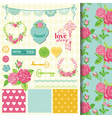 Design Elements - Floral Shabby Chic Theme vector image