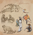 Afghanistan Hand drawn pack no vector image