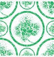 seamless tree pattern 07 grunge vector image
