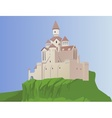 castle on a rock vector image