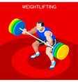 Weightlifting 2016 Summer Games 3D Isometric vector image