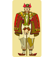 Man National Costume vector image vector image