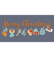 Christmas banner Cozy Christmas poster set vector image