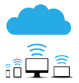 cloud computers vector image