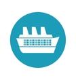 cruise ship travel maritime blue circle vector image
