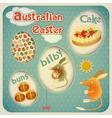 Easter Australian Card vector image
