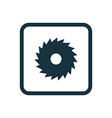 industrial saw icon Rounded squares button vector image
