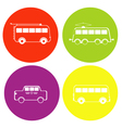 monochrome icon set withbus trolleybus tram and vector image