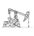 oil rig engraving vector image