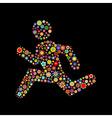 running men shapes vector image