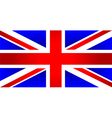 united kingdom of great britain flag vector image