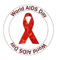 World AIDS day stamp vector image vector image