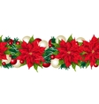 Christmas seamless border isolated on white vector image