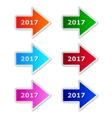 2017 arrows vector image vector image