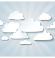 White clouds or speech bubbles for your text vector image vector image