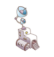 A broadcasting station vector image vector image