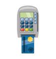 dataphone online payment vector image