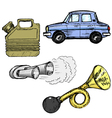 automotive objects vector image