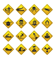 Warning Signs for dangers in sea and rivers vector image vector image