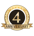 Four Year Anniversary Badge vector image