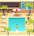 Happy People Sunny Pool Hotel Summer Vacation vector image