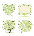 spring tree frame vector image