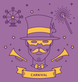 MAGICIAN CARNIVAL COSTUME OUTFIT vector image vector image