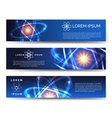 Scientific and technological banners vector image
