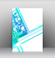 Business square background template vector image