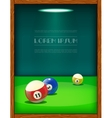 Cool billiard poster with colorful balls vector image